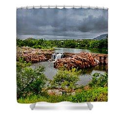 Medicine Park II Shower Curtain by Toni Hopper