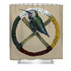 Medicine Wheel Shower Curtain by J W Baker