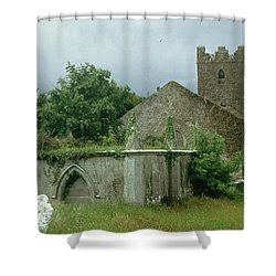 Medieval Church And Churchyard Shower Curtain by Unknown