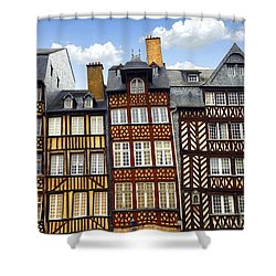 Medieval Houses In Rennes Shower Curtain by Elena Elisseeva