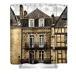 Medieval Houses In Vannes Shower Curtain by Elena Elisseeva