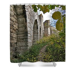 Medieval Town Wall Shower Curtain