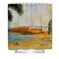 Medina Of Tetouan Shower Curtain by Catf