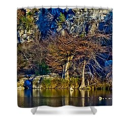 Medina River At Comanche Cliffs Shower Curtain