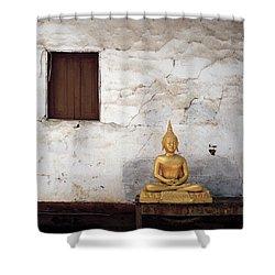 Meditation In Laos Shower Curtain