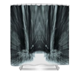 Meditation In The Forest Shower Curtain by Dan Sproul