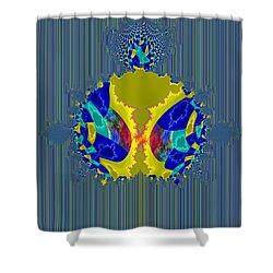 Shower Curtain featuring the digital art Meditation Mandelbrot Fractal by Digital Feng Shui