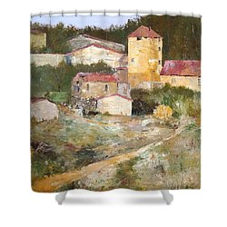 Mediterranean Farm Shower Curtain