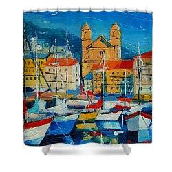 Mediterranean Harbor Shower Curtain