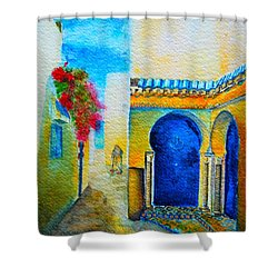 Mediterranean Medina Shower Curtain by Ana Maria Edulescu