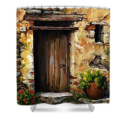 Mediterranean Portal Shower Curtain