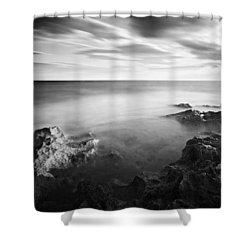 Shower Curtain featuring the photograph Mediterranean Sunset / Tunisia by Barry O Carroll