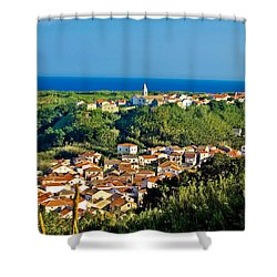Mediterranean Town Of Susak Croatia Shower Curtain