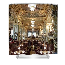 Meet Me For Coffee - New York Cafe - Budapest Shower Curtain