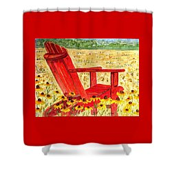 Shower Curtain featuring the painting Meet Me In The Meadow by Angela Davies