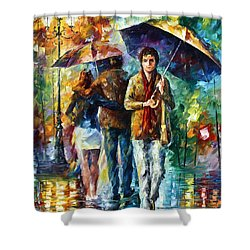 Meeting My Ex Shower Curtain by Leonid Afremov
