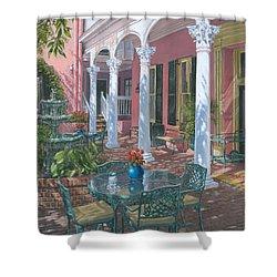 Meeting Street Inn Charleston Shower Curtain by Richard Harpum
