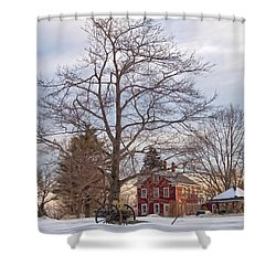 Meetinghouse Hill Shower Curtain