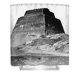 Meidum Pyramid, 1879 Shower Curtain by Science Source