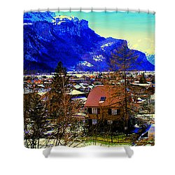 Meiringen Switzerland Alpine Village Shower Curtain