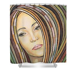 Melancholy 300308 Shower Curtain by Sylvia Kula