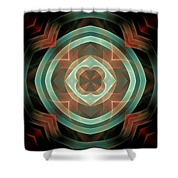Melange-panel-3-left-or-right Shower Curtain by Bill Campitelle