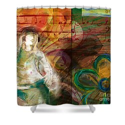 Melody Shower Curtain by Bedros Awak