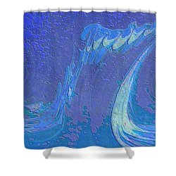 Shower Curtain featuring the painting Melody by Mike Breau
