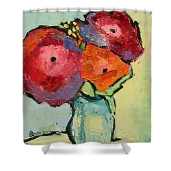 Shower Curtain featuring the painting Melody Of Love by Becky Kim
