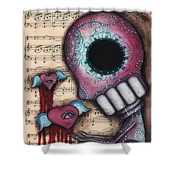 Melting Hearts  Shower Curtain