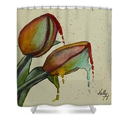Melting Tulips Shower Curtain by Kelly Mills