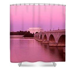 Memorial Bridge, Washington Dc Shower Curtain by Panoramic Images