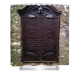 Memorial Tablet To Signal Corps U.s.a. Shower Curtain