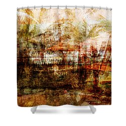 Shower Curtain featuring the mixed media Memories #1 by Sandy MacGowan