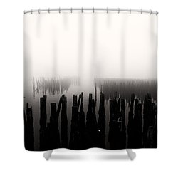 Memories And Fog Shower Curtain by Bob Orsillo