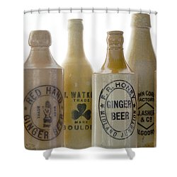 Memories In A Bottle Shower Curtain by Holly Kempe