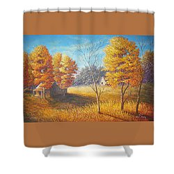 Memories Shower Curtain by Loxi Sibley