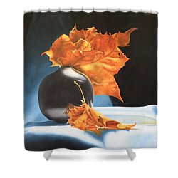 Memories Of Fall - Oil Painting Shower Curtain