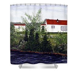 Memories Of Home  Shower Curtain by Barbara Griffin