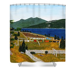 Memories Of Monday Shower Curtain by Barbara Griffin