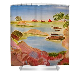 Shower Curtain featuring the painting Memories Of Monterey by Meryl Goudey