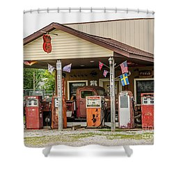 Memories Of Route 66 Shower Curtain by Sue Smith