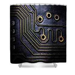 Memory Chip Number Two Shower Curtain by Bob Orsillo