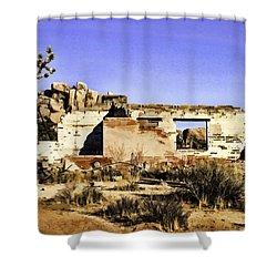 Shower Curtain featuring the painting Memory by Muhie Kanawati