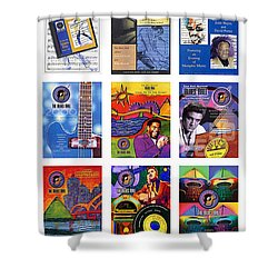 Posters Of Music Shower Curtain by David Bearden