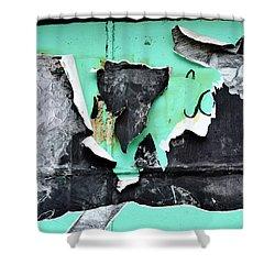 Memphis Found Art Green Good On Ya Shower Curtain