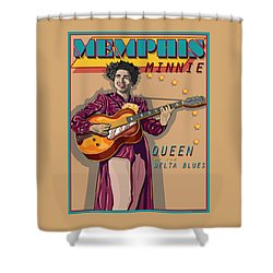 Memphis Minnie Queen Of The Delta Blues Shower Curtain by Larry Butterworth