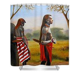 Men Of The Maasai Shower Curtain