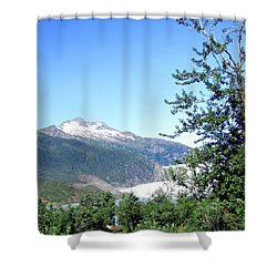 Shower Curtain featuring the photograph Mendenhall Glacier by Jennifer Wheatley Wolf