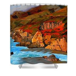 Mendocino Coast Shower Curtain by Alice Leggett